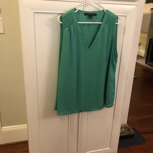 Green dressy blouse sleeveless shirt